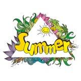 Sommerhintergrund, vektorabbildung Lizenzfreie Stockbilder