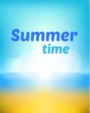 Sommerhintergrund-Vektorillustration stock abbildung