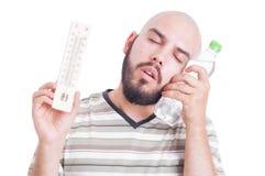 Sommerhitze und Dehydrierungskonzept Lizenzfreies Stockfoto