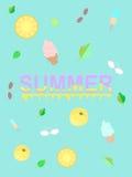 Sommerillustrations-Fruchteiscreme kühl Lizenzfreie Stockfotos