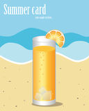 Sommerkarte lizenzfreie abbildung