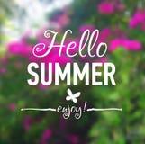 Sommerkarte mit Blumen Lizenzfreie Stockfotos
