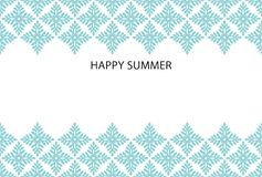 Sommerkarte mit dekorativen Ikonen stock abbildung