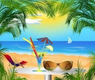 Sommerkarte mit Seeansicht Lizenzfreies Stockfoto