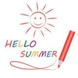 Sommerkartenvektor Lizenzfreies Stockfoto