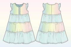 Sommerkleid mit Steigungseffekt Stockfotografie
