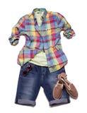 Sommerkollektion Kleidung für Männer Stockbilder
