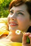 Sommerlächeln Stockbild