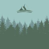 Sommerlager Bild der Natur Gebrauch, wie oder enthaltene Beschaffenheit in einer Auslegung Vektor illustrati Stockfoto