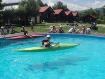 Sommerlager in Rumänien stockfotos