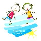 Sommerlagerplakat Stockfoto