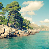 Sommerlandschaft, adriatisches Meer (Dalmatien, Kroatien) Lizenzfreie Stockfotografie