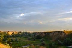 Sommerlandschaft, Burunday, Almaty, Kasachstan Stockfoto