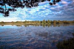 Sommerlandschaft in dem Fluss Stockbilder
