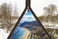 Sommerlandschaft der Landschaft des frostfreien Winters mit Zipverschluß Stockbilder