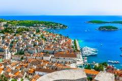 Sommerlandschaft in Europa, Kroatien stockbild