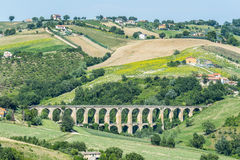 Sommerlandschaft im Märze (Italien) Lizenzfreie Stockfotos
