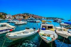 Sommerlandschaft in Kroatien, adriatische Küste Stockfotografie
