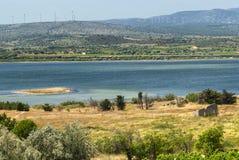 Sommerlandschaft in Languedoc-Roussillon (Frankreich) Stockfotos