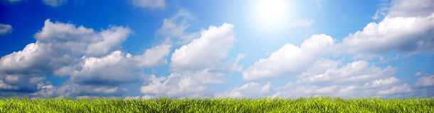 Sommerlandschaftspanorama stockfoto