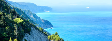 Sommerlefkada-Inselküste (Griechenland) Stockfoto