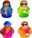 Sommerleute Lizenzfreies Stockfoto