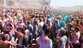 Sommerlich von den Farben Holi Barcelona Lizenzfreie Stockfotografie