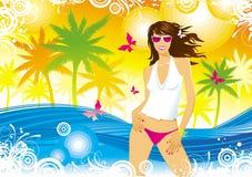 Sommermädchen lizenzfreie abbildung