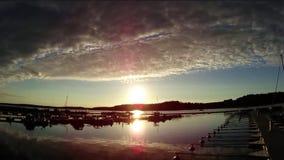 Sommermarinesonnenuntergang timelapse stock video footage