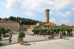 Sommermarktplatz Florenz, Italien Stockfotografie