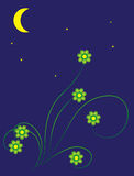 Sommermondnacht stock abbildung