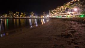 Sommernacht auf der Insel von Gran Canaria Spanien stockfotos