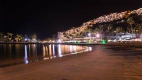 Sommernacht auf der Insel von Gran Canaria Spanien stockbild