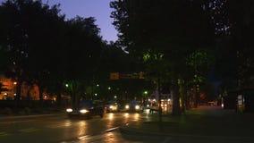 Sommernacht-como See-Stadtverkehrs-Straßenseitenpanorama 4k Italien stock video footage