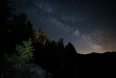 Sommernacht in den Alpen Stockbilder