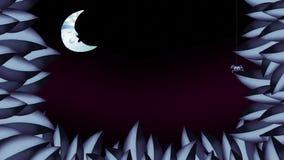 Sommernachttitelrahmenhintergrund Nahtlose Schleife lizenzfreie abbildung