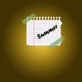 Sommernotiz stockfotos