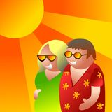 Sommerpaare Lizenzfreie Stockfotos