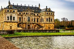 Sommerpalais in Great Garden Dresden stock photos