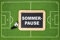 Sommerpause means Summer break royalty free stock images