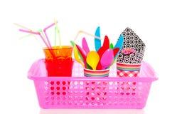 Sommerpicknickwerkzeuge Stockfoto