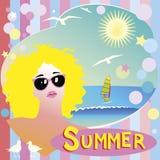 Sommerplakat Lizenzfreies Stockbild