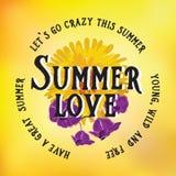 Sommerplakat Typografievektor Stockfoto