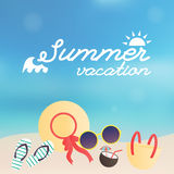Sommerplakat Vektor Lizenzfreie Abbildung
