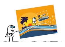 Sommerpostkarte vektor abbildung