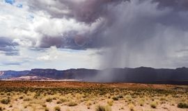 Sommerregen, Marmorschlucht Hwy 89 Stockbild