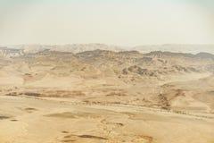 Sommerreise zu Israel-Wüste Negev voll des Sandes stockbild