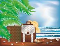 Sommerreisekarte Stockfoto