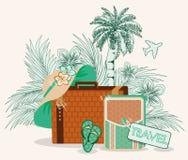 Sommerreisekarte, Vektor Stockbilder
