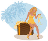 Sommerreisemädchen Lizenzfreies Stockfoto